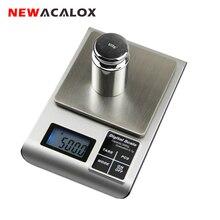 NEWACALOX электронные цифровые ювелирные весы для золота Bijoux Серебро грамм весы 0,01 500 г
