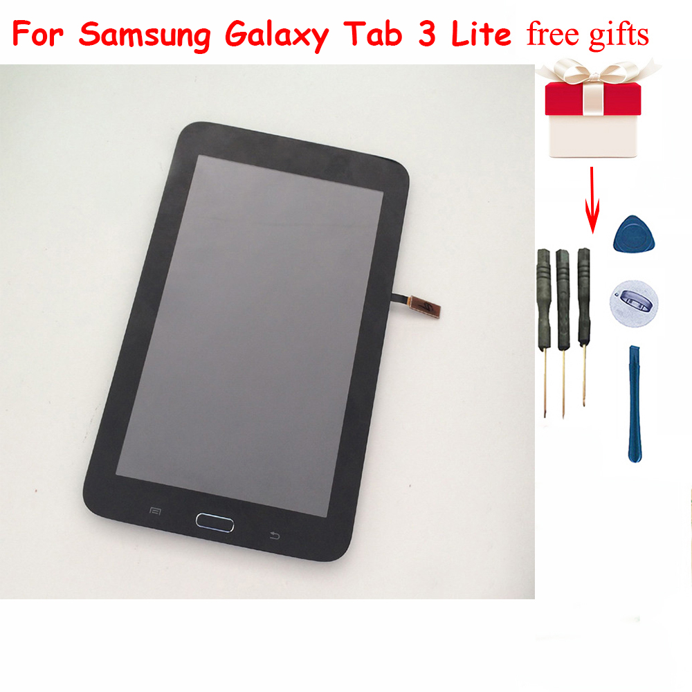 For Samsung Galaxy Tab 3 Lite 7.0 SM T110 T110 LCD Display Monitor Screen Touch screen Sensor Digitizer Assembly With Frame