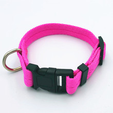 7 colors Pet dog collar adjustable clip buckle dog collars head collars size S/M/L/XL puppy large
