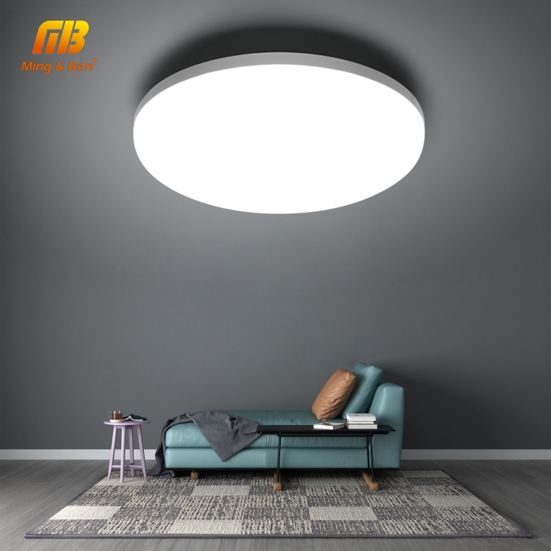LED tavan lambası 48W 36W 24W 18W 13W 9W 6W aşağı ışık yüzeyi montaj panel lambası 85-265V Modern UFO lamba ev dekor aydınlatma