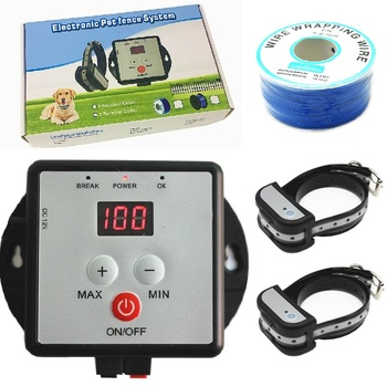 Pet Dog Fence In-ground Wire Pet Containment With Training Collar Electronic Dog Shock Fence System For Two Dogs
