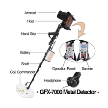 Detector de oro GFX7000 para tesoro de oro, cazador en profundidad