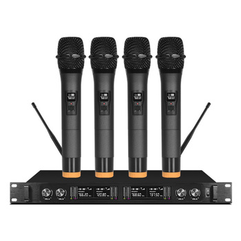 Wireless microphone professional stage one for four handheld headset lavalier condenser conference microphone