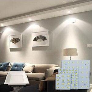 Image 5 - 1/5 sets LED PCB + נהג ערכות 6W 12W 18W LED Downlight אלומיניום אור צלעות קירור SMD5730 110lm/w כיכר אור מקור עבור פנל מנורה