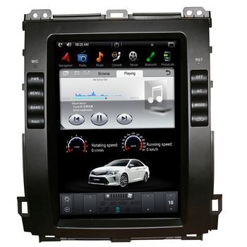 10,4 дюймовый вертикальный экран Tesla Style Android 9,0 автомобильный DVD-плеер GPS для Toyota Prado 120 land cruiser 2002-2009 Lexus GX470