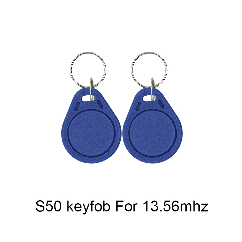 50pcs 13.56MHz IC M1 S50 Attendance Management Keychain ABS Waterproof Keyfobs Tags RFID Key Badge Finder Card Token