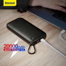Baseus 20000mAh Power Bank Portable Charger Dual USB Fast Charging Travel External Battery Charger 3.0 Quick Charger For iPhone