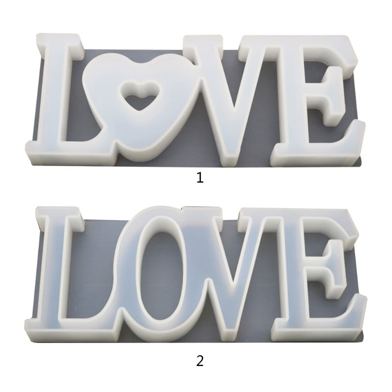 Handmade Pendant Craft DIY Crystal Epoxy Love Heart Shape Mold High Mirror Molds
