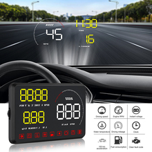 A9 Car HUD Head Up Display OBD2 II Car-Styling Hud Display Overspeed Warning System Speed Windshield Projector Voltage Alarm 5