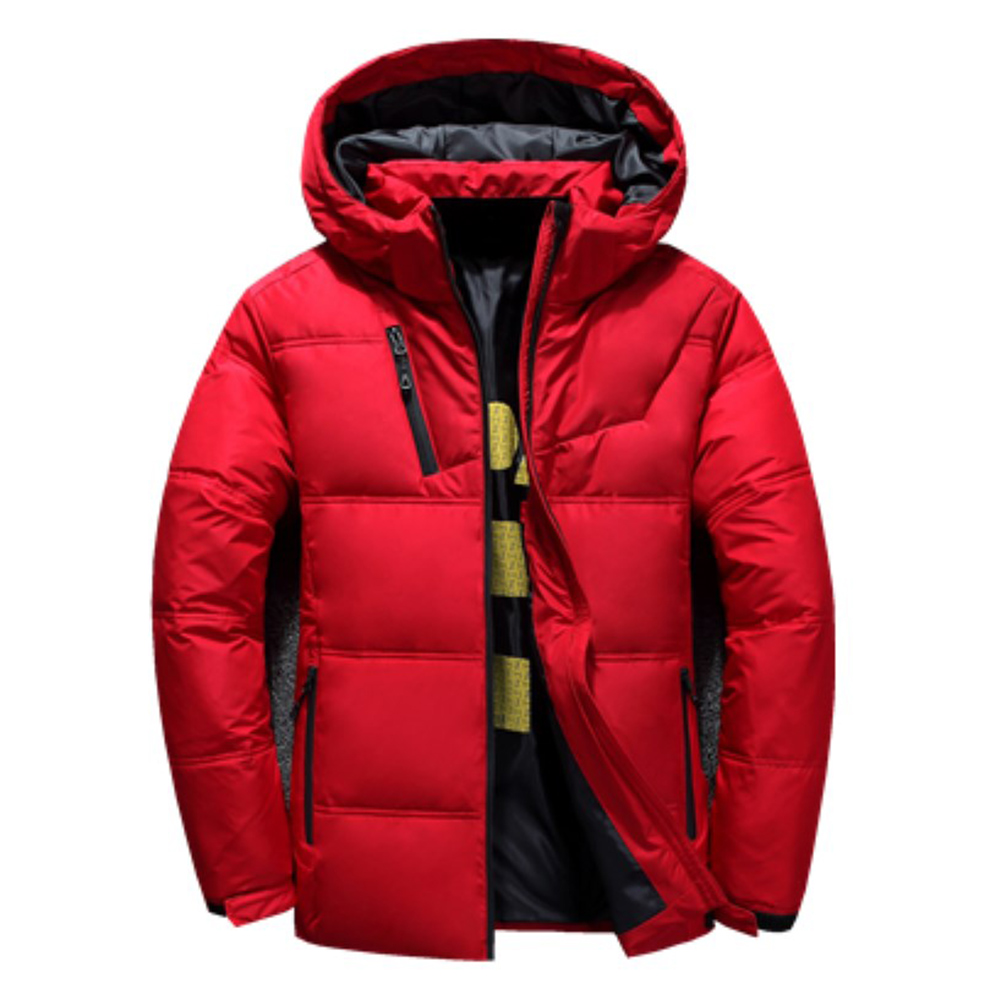 2020 Winter Jacket Mens Quality Thermal Thick Coat Snow Red Black Parka Male Warm Outwear Fashion White Duck Down Jacket Men