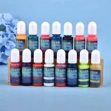 Résine de Colorant époxy UV, Pigment liquide lumineux 10ML, Colorant pour la fabrication artisanale