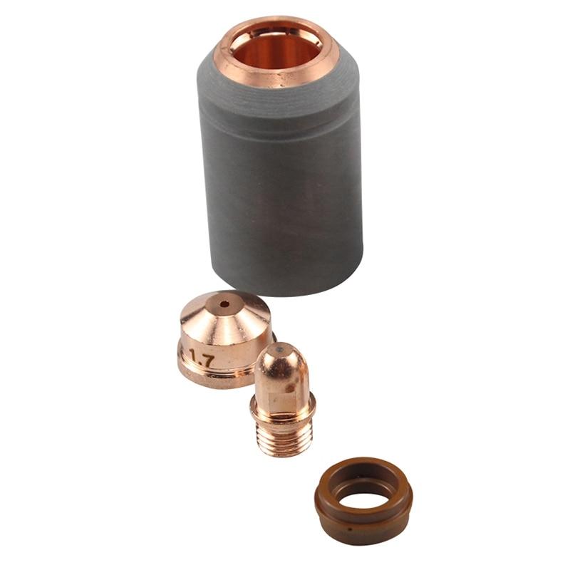 A141 Plasma Torch Consumables Kit 4Pcs Cutting Electrode Nozzle Tip Shield PR0101 PD0101 PC0101 PE0101 CV0011