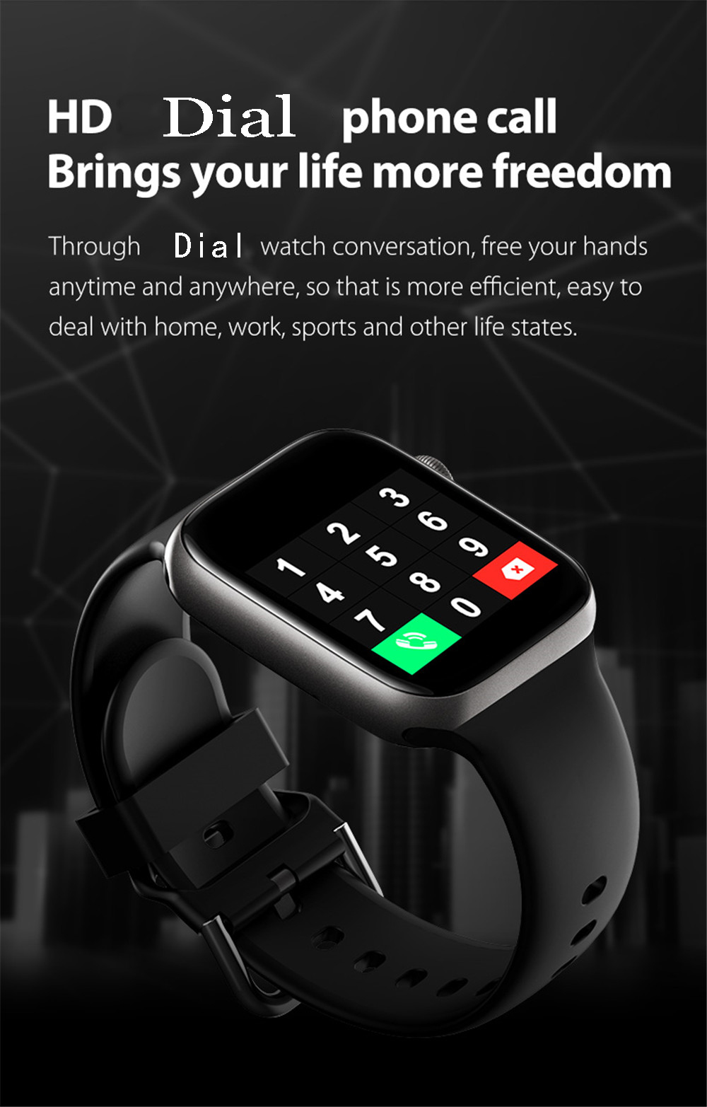H9011b2106ba1480daaf2f4757a10c6e01 Smart Watch Men Smartwatch Women Dial Call Watch Waterproof Fitness Tracker Music Control 2021 For Iphone Xiaomi Huawei IWO+gift