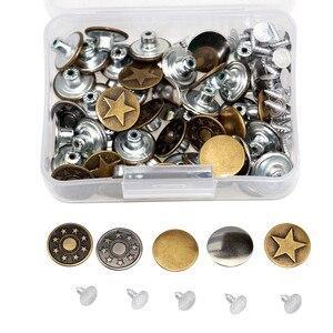 50 наборов 17 мм застежка молния металла брюки кнопки для одежды джнисовая пуговица металлические гвозди пуговицы запасных частей для пришивания пуговиц Пуговицы      АлиЭкспресс