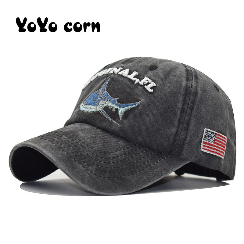 Which in shower stitched shark snapback man   caps     baseball     cap   hip hop embroidery curved strapback dad hats summer fish sun hat
