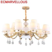 Hanglampen ברק E Pendente Para Sala De Jantar קריסטל Lampen מודרני השעיה Suspendu Luminaire תליית מנורת תליון אור