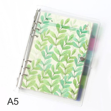 6 листов А5 6 7 Kawaii спиральный разделитель для блокнота, милый тонкий Органайзер планировщик разделитель страниц офисные школьные канцелярские товары