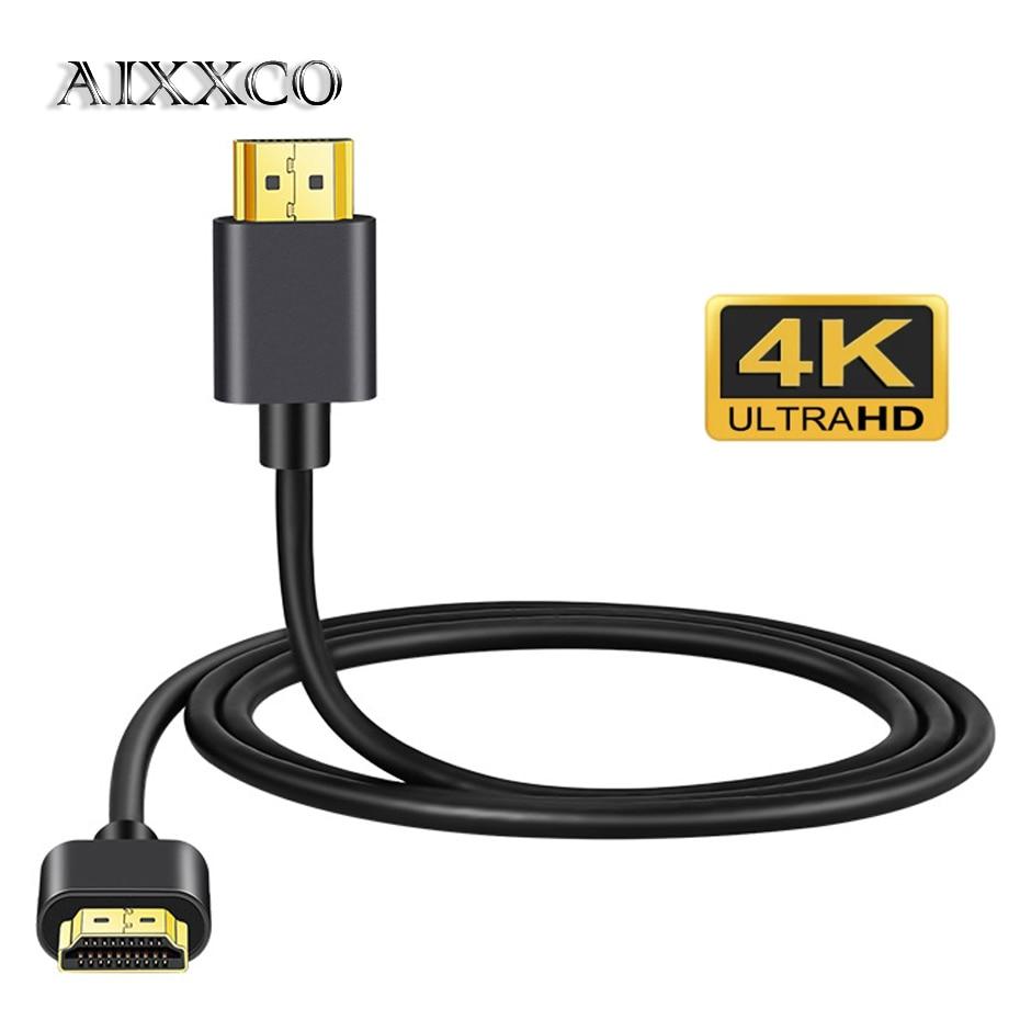 Соединительный кабель AIXXCO 0,5 м, 1 м, 1,5 м, 2 м, 3 м, 4K, 60 Гц, HDMI-совместимый высокоскоростной 2,0 позолоченный шнур для UHD FHD 3D