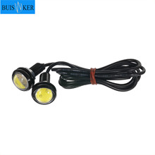 цена на 2pcs 12V LED 18mm Eagle Eye Light High Power lamp Daytime Running Light parking lights Auto Fog bulb Backup DRL car styling