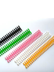 Rings Booking-Strip Notebook Spiral Office-Supply Plastic 25-Holes-Loose-Leaf 12mm