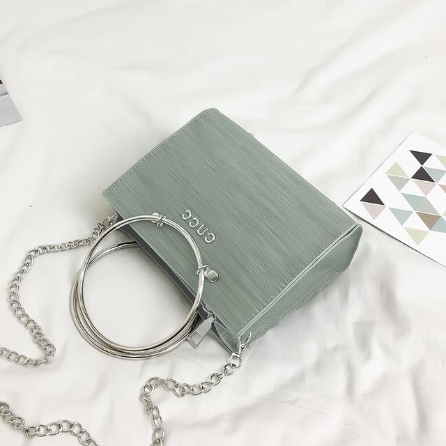 Summer 2020 new fashion Korean version all – in – one women bag cross-body ring chain mini hand bill of lading shoulder bag