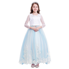 Wedding Princess Dress Flower Girls Bridesmaid Dresses for Kids Long Party Gown Photo Shoot Costumes
