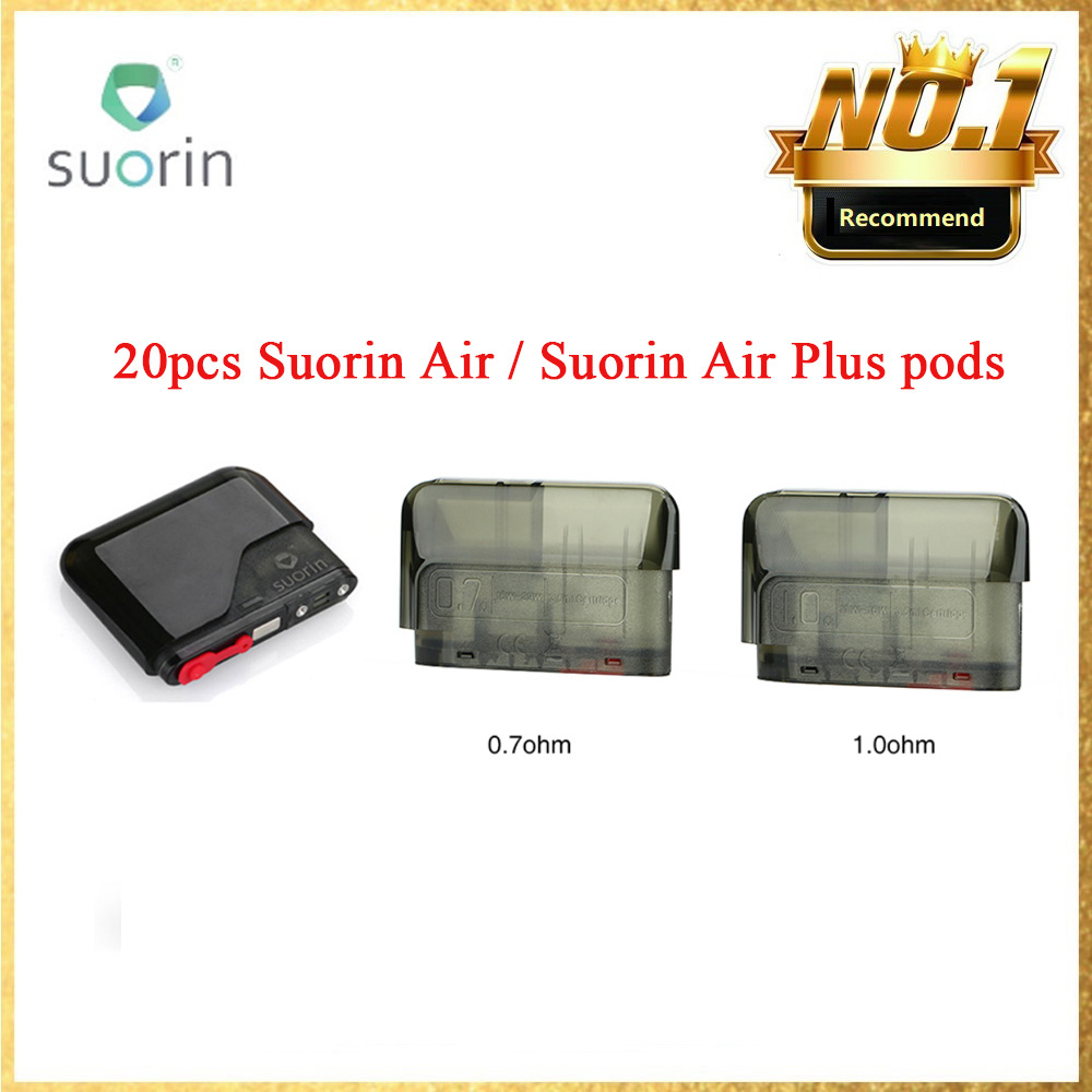Original 2ml <font><b>Suorin</b></font> <font><b>Air</b></font> <font><b>Cartridge</b></font> 1.2ohm & 3.5ml <font><b>Suorin</b></font> <font><b>Air</b></font> <font><b>Plus</b></font> <font><b>Pod</b></font> <font><b>Cartridge</b></font> 1.0 ohm Ecig Vape <font><b>Pod</b></font> For <font><b>Suorin</b></font> <font><b>Air</b></font>/<font><b>Air</b></font> <font><b>Plus</b></font> Kit image