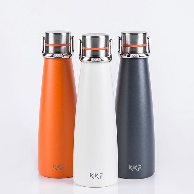 Youpin KKF Vacuum Bottle 24h Insulation Cup Thermoses Stainless Steel Thermos Flask 475ML Travel Mug Portable Sports Cold Cup