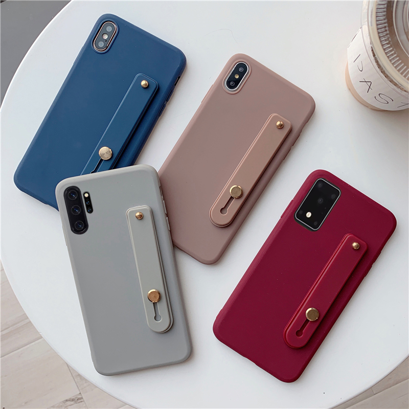Wrist Strap Hand Band Phone Case For Samsung Galaxy A50 A71 A70 A21 A51 A91 A81 M60S M80S Soft TPU Cover For Note 10 Pro Lite