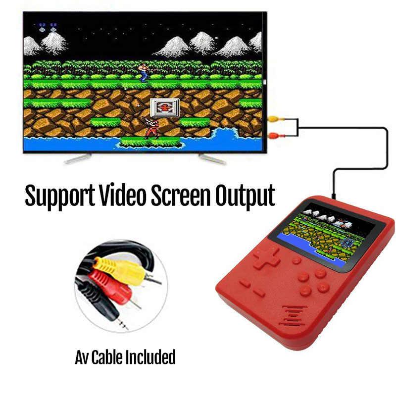 2019 yeni Retro taşınabilir Mini elde kullanılır oyun konsolu 8-Bit 3.0 inç renkli LCD çocuklar renk oyun oyuncu dahili 500 oyunları