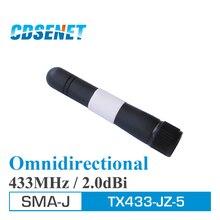 2 قطعة 433MHz 2.0dBi TX433 JZ 5 الأصلي SMA J الذكور الهوائيات uhf سوط Wifi أومني هوائي للاتصالات Wifi انتينا اومني