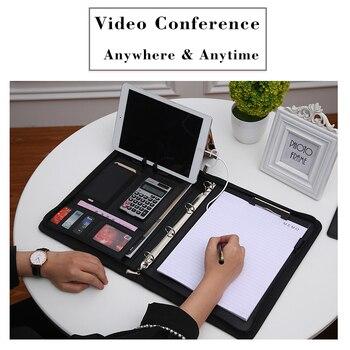 A4 yöneticisi konferans klasörü bağlayıcılar klasörü A4 dosya Padfolio deri portföy