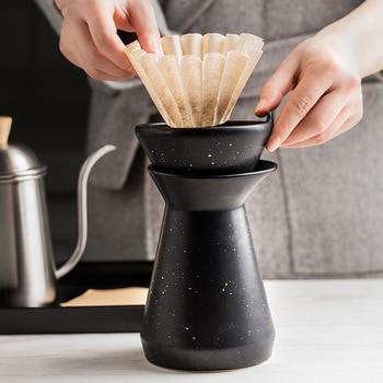 Ceramic Coffee Maker Mocha Latte Coffee Percolator Pot Funnel Shape Espresso Water Drip Coffee Maker With Coffee Filter Paper