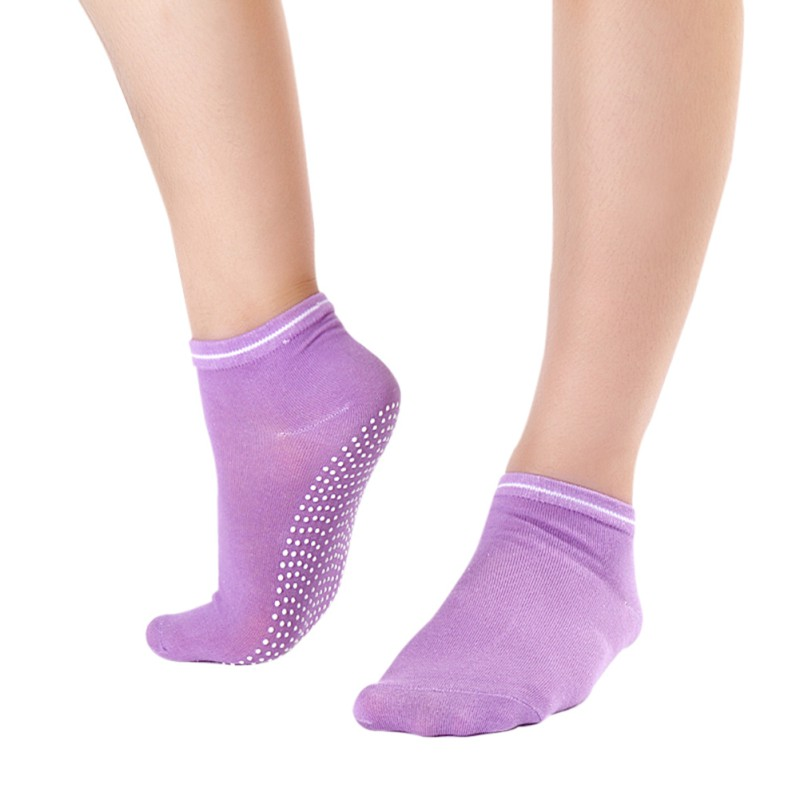 Women Yoga Socks Cotton Dance Gym Sport Non Slip Massage Pilates Fitness Running Socks