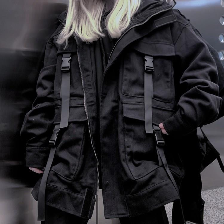 Women's   Basic     Jacket   Harajuku Gothic Coat Solid Oversized Windbreaker Outwear