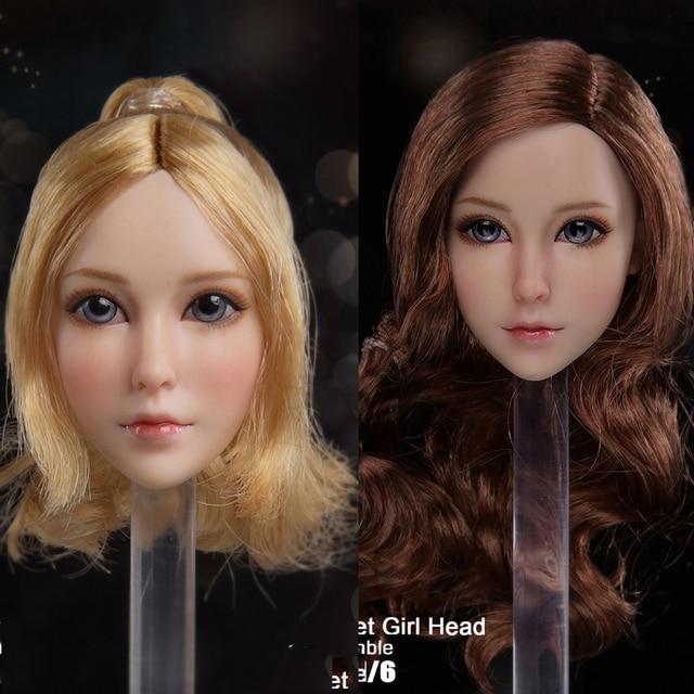 So-toys SO-05 1//6 Scale Female Headplay Doll Head Sculpt Blond Hair