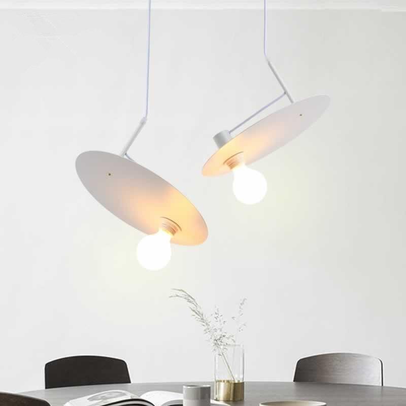 Modern Art White UFO Pendant Light Loft  Designer Bedside Study Decoration Suspension Lighting Fixtures Free Shipping