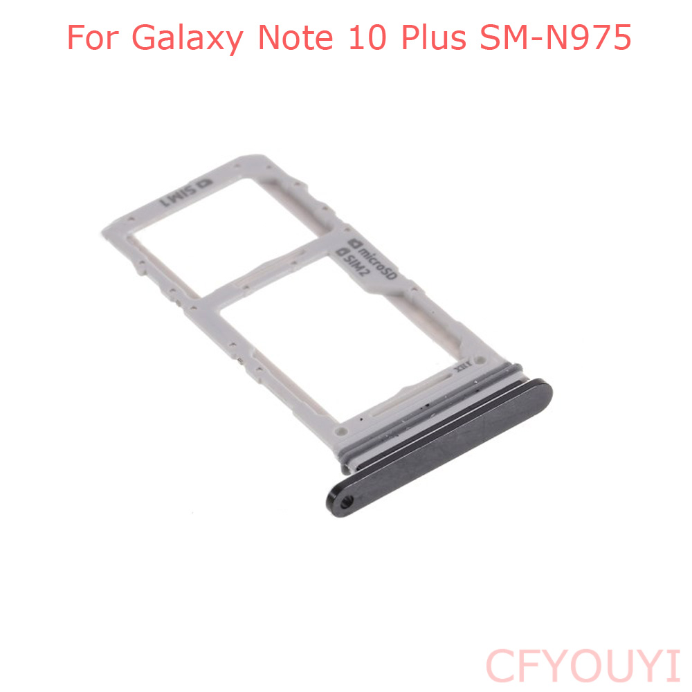 For Samsung Galaxy Note 10 Plus N975 Dual SIM Card Tray Holder Slot Replacement Part
