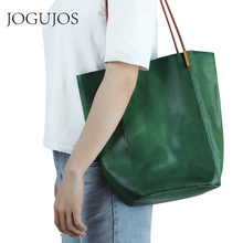 JOGUJOS Genuine Leather Luxury Handbags Women Bags Ladies Fashion Designer Shoulder Bag Tote Bags Real Leather Sac A Main