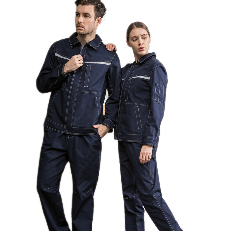 Electronic Worker Welding Suit Denim Coverall Work Clothes Set Labor Mechanical Workshop Auto Repair Tear Wear-resistant Uniform