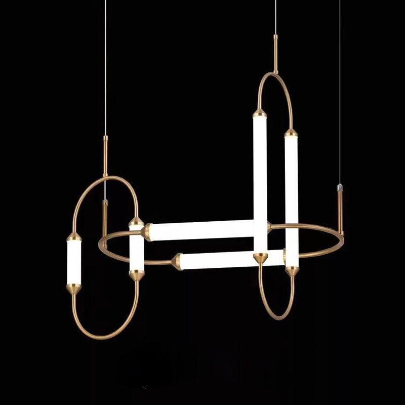 LED Postmodern Iron Glass Gold White LED Lamp LED Light.Pendant Lights.Pendant Lamp.Pendant light For Dinning Room Pendant Lights     - title=