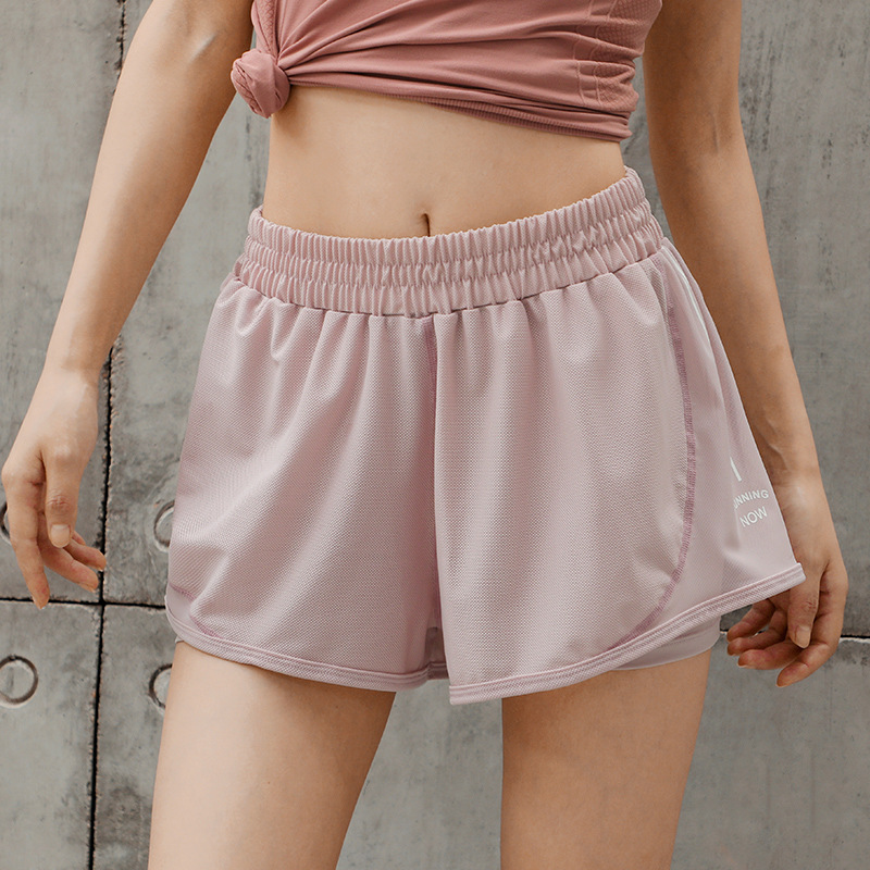 2019 New Mesh Breathable Sports Shorts Anti-glare Loose Casual Quick-drying Lady Running Fitness Shorts For Women