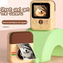 Детская камера Мгновенной Печати для детей цифровая 1080p фото