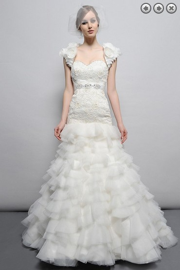Free Shipping Hot 2016 Designer Bridal Gown Lace Brides Plus Size Sweetheart Elegant Lace Jacket Wedding Dresses Removable Belt