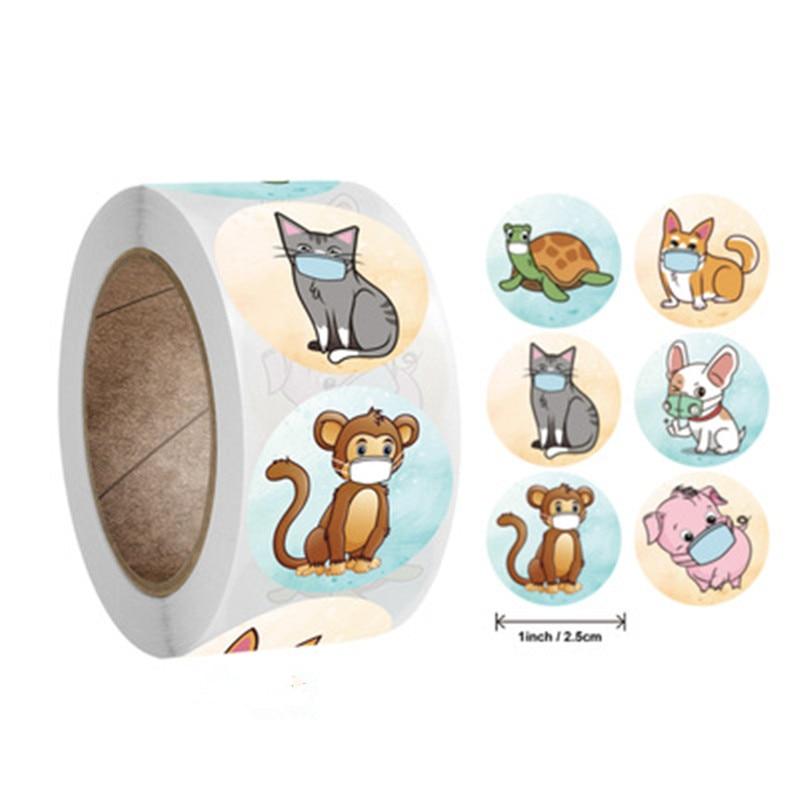 500pcs/roll Cute Words Stickers for Kids Teacher Reward Stickers School Classroom Supplies 1 inch Round Encourage Stickers