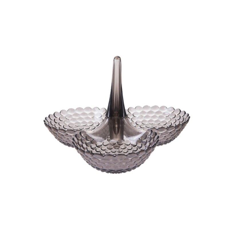 Сложенный Европейский лоток для хранения многослойная пластиковая тарелка сухофрукты закуски блюдо миска стол Закуски конфеты лотки стеллаж Органайзер - Цвет: 1 layer-Black