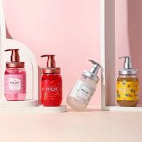 Whole Sale AILKE Strawberry+Rose+Papaya+sakura Fruit Lightening Body Wash Private label Skin Whitening Bath Shower Gel 500ml 6