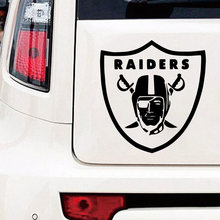 Funny Raiders Car Stickers Vinyl Decal For Rearview Mirror Cars Head Engine Cover Windows Decoration American football team(China)