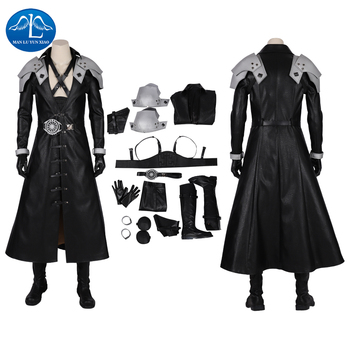 Final Fantasy VII Remake Costume FFVII Remake Sephiroth Cosplay Costume Adult Men Halloween Carnival Costumes Game Faux Leather
