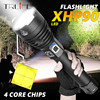 XLamp XHP90 החזק ביותר Usb Zoomable Led פנס Xhp70.2 טקטי פלאש אור לפיד ידי 26650 או 18650 סוללה עבור האנט
